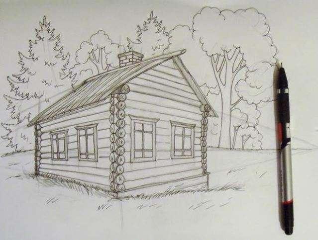 Huizen tekenen cartoon hand tekenen van huizen for Huizen tekenen