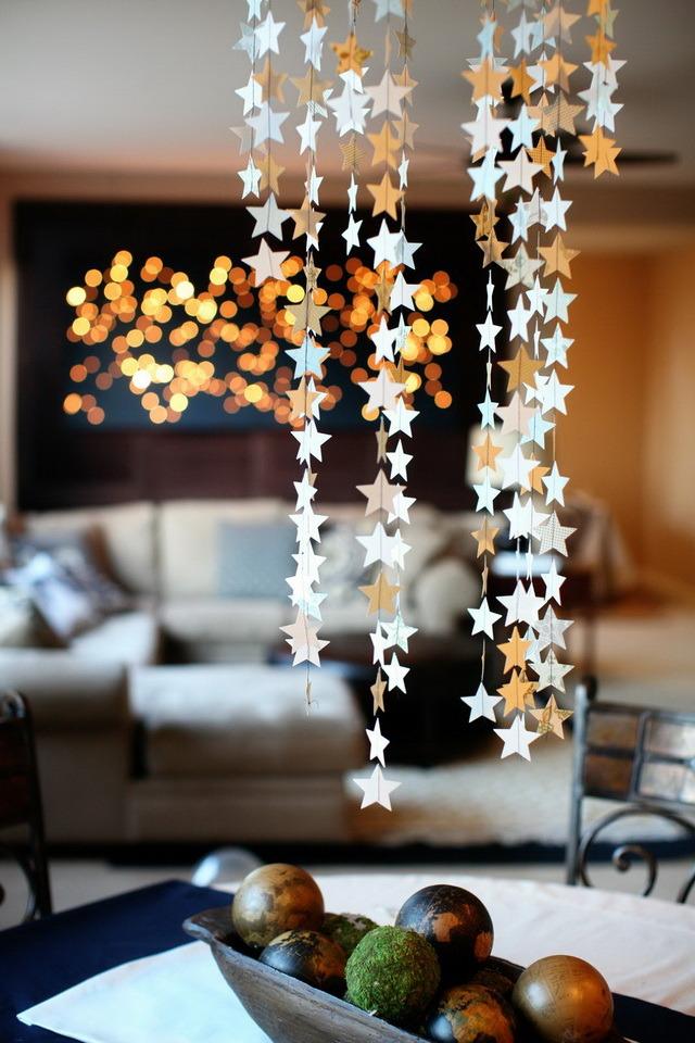 Декор потолка из бумаги